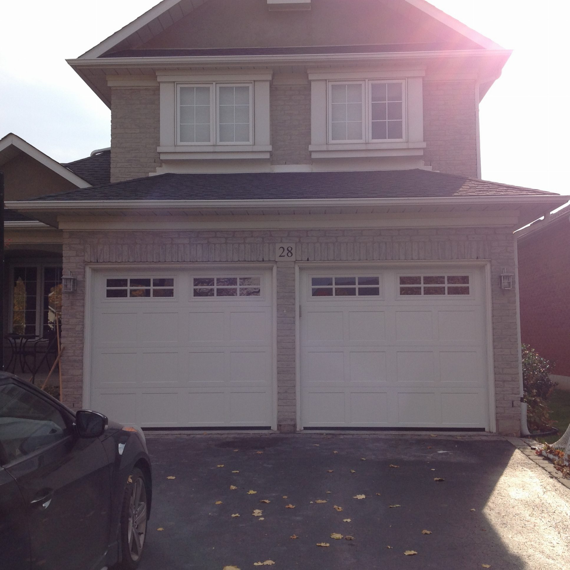 Residential garage doors hamilton door systems after long panel with square grid windows rubansaba